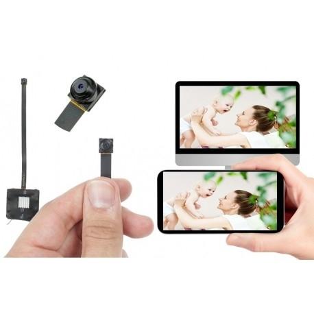 Mikro maža stebėjimo sekimo kamera wi fi